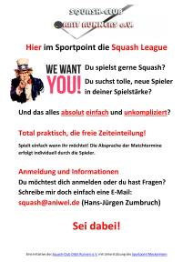 Einladung Squash-League Sportpoint Meckenheim